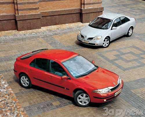 Тест Nissan Primera, Renault Laguna. Пробы нафотогеничность.— фото 29413