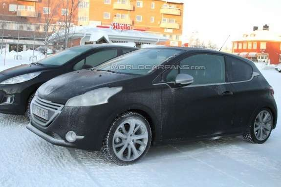 Peugeot 208GTi test prototype side-front view