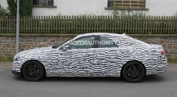 Next-generation Cadillac CTS test prototype  side view