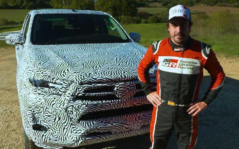 Фернандо Алонсо вывел навнедорожные тесты новый пикап Toyota Hilux