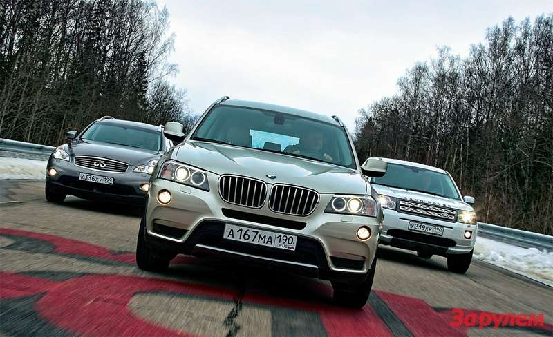 Infiniti EX37, BMW X335i, Land Rover Freelander i6