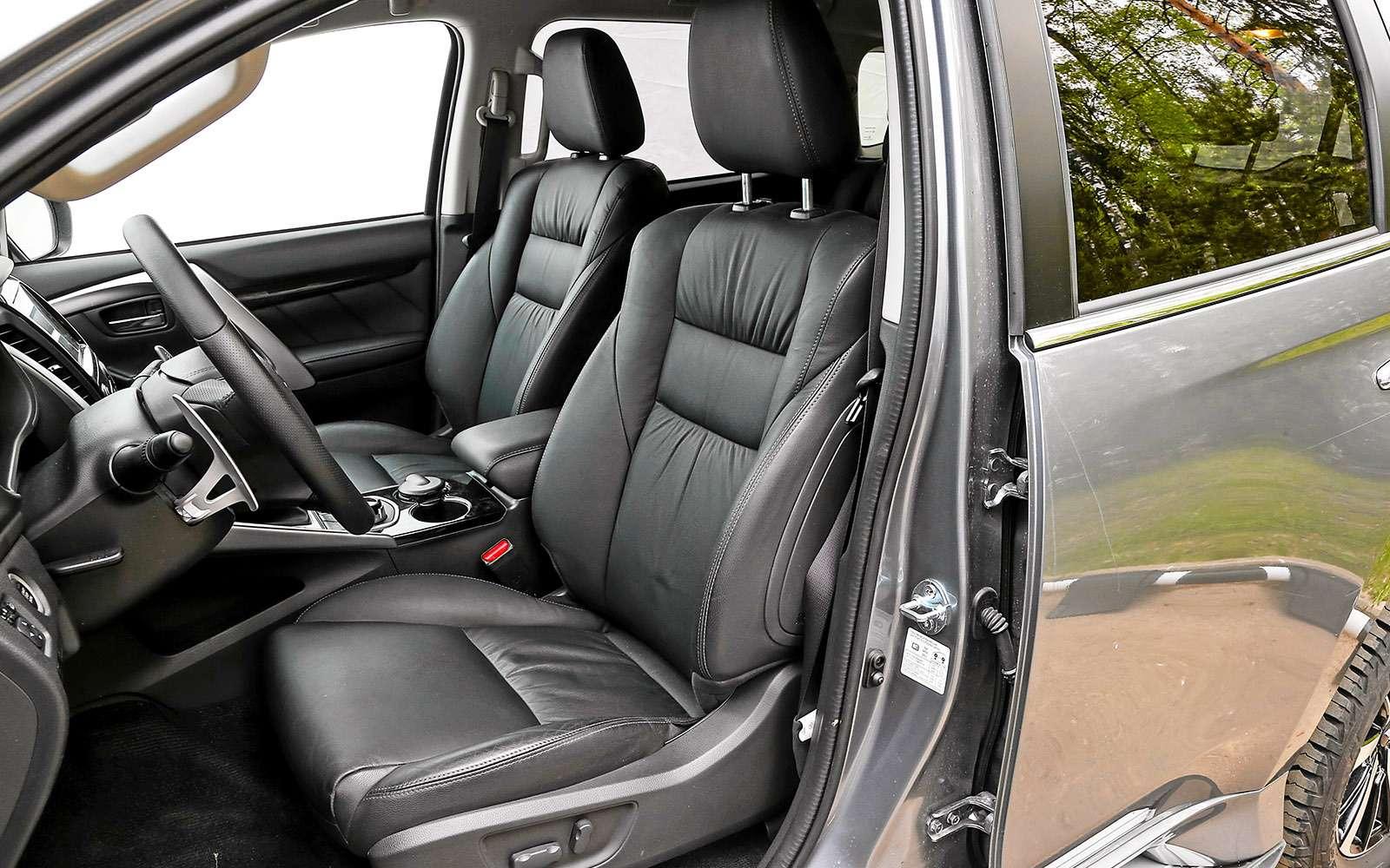 Mitsubishi Pajero Sport иKia Mohave— сравнительный тест настоящих внедорожников— фото 769873