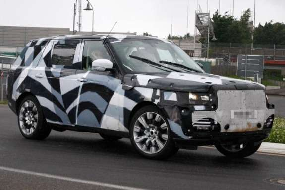 New Land Rover Range Rover EWB test prototype side-front view