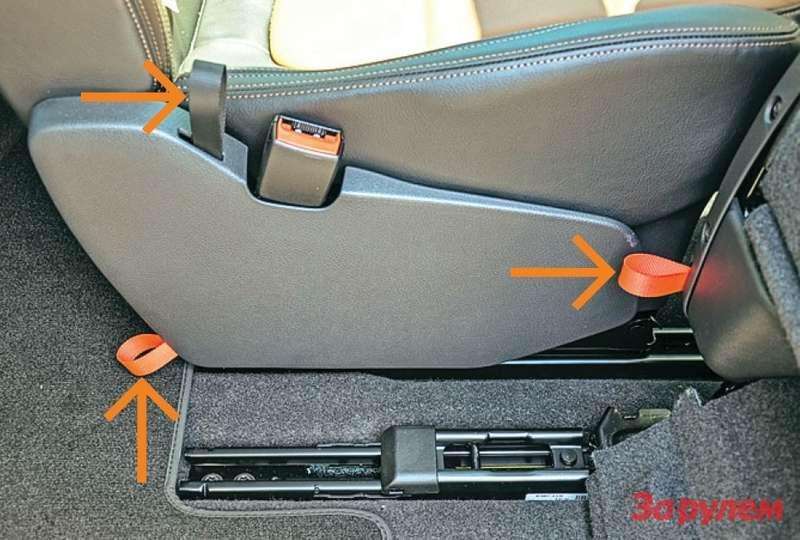 Удобные петли облегчают процесс трансформации сидений.