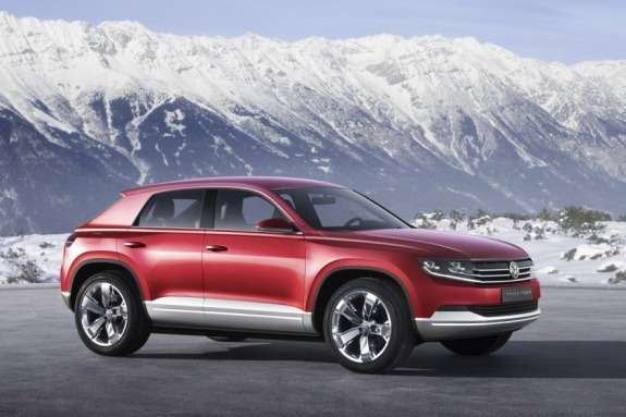 Volkswagen Cross Coupe TDI plug-in hybrid Concept side-front view 2