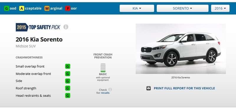 Новая Kia Sorento успешно прошла краш-тест смалым перекрытием