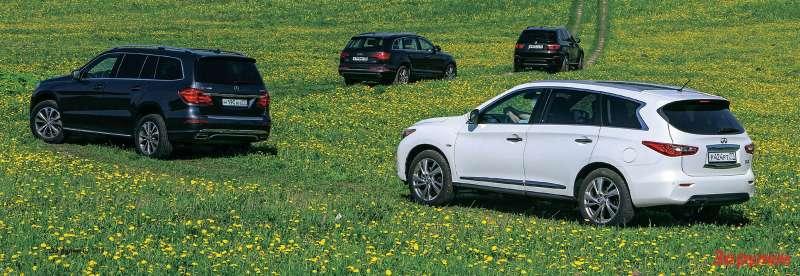 BMWX5, Infiniti JX35, Mercedes-Benz GL, Audi Q7
