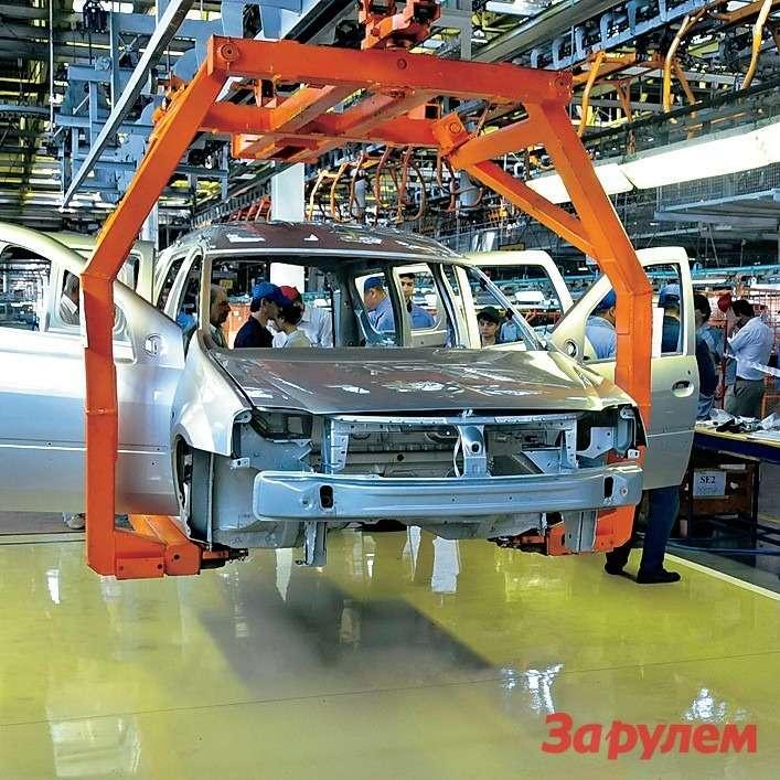 Подновый проект конвейер существенно доработали— подняли подвес иукрепили несущие опоры.