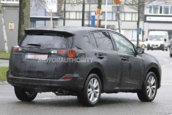 Next Toyota RAV4 test prototype side-rear view