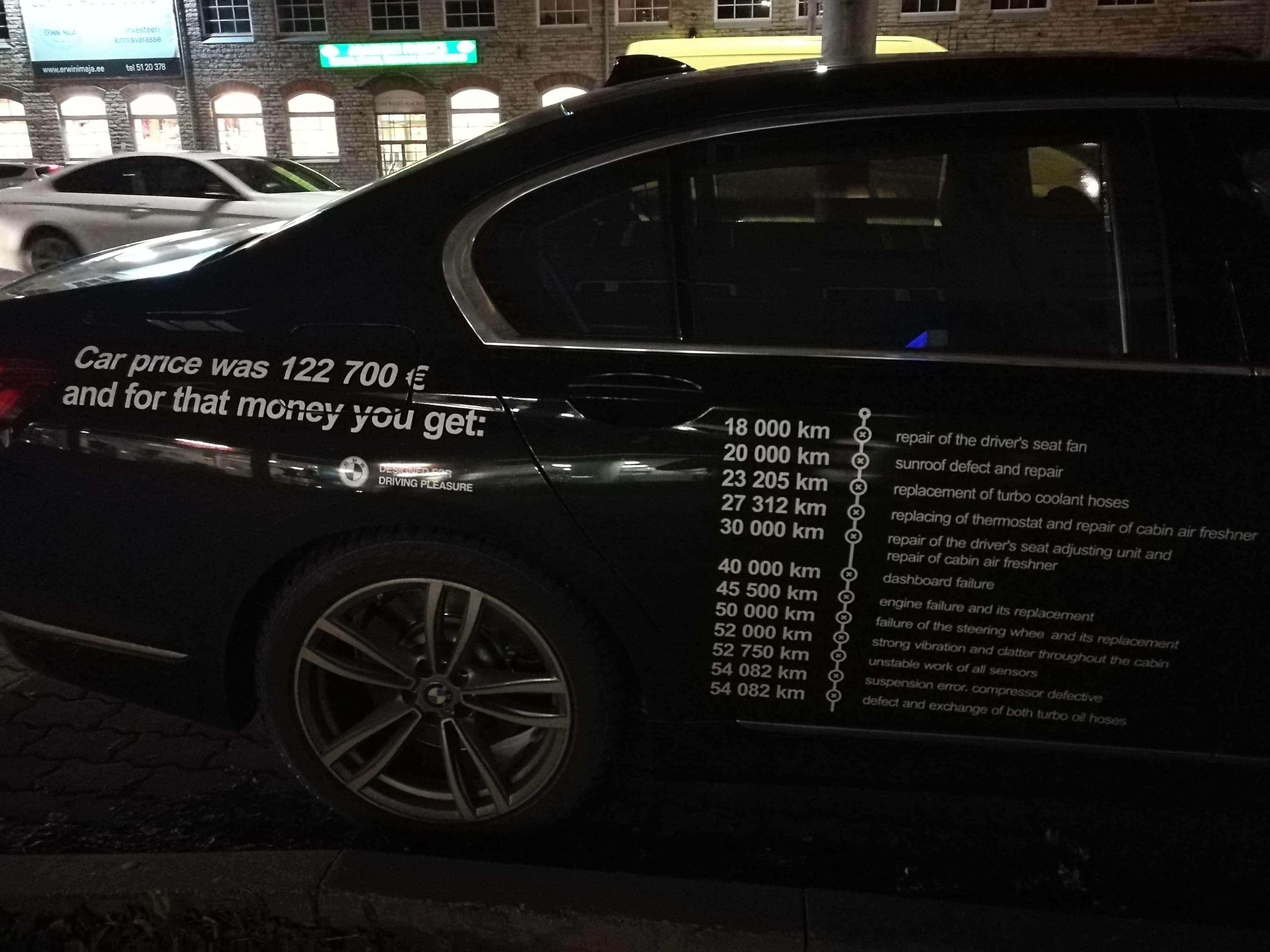 Владелец BMW нанес список всех поломок накузов автомобиля. Отомстить решил!— фото 921016
