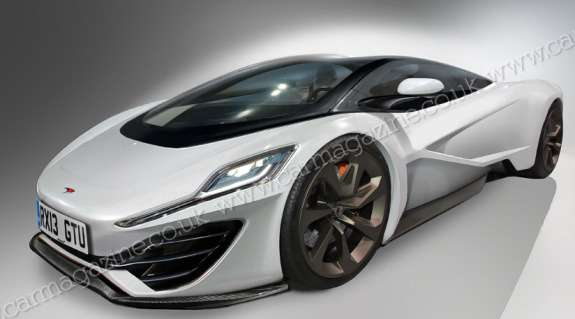 McLaren P12 rendering byCar Magazine side-front view