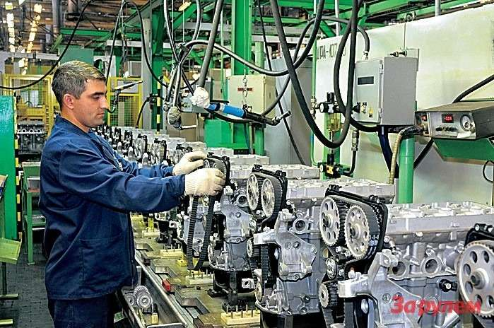 Моторное производство АВТОВАЗа.