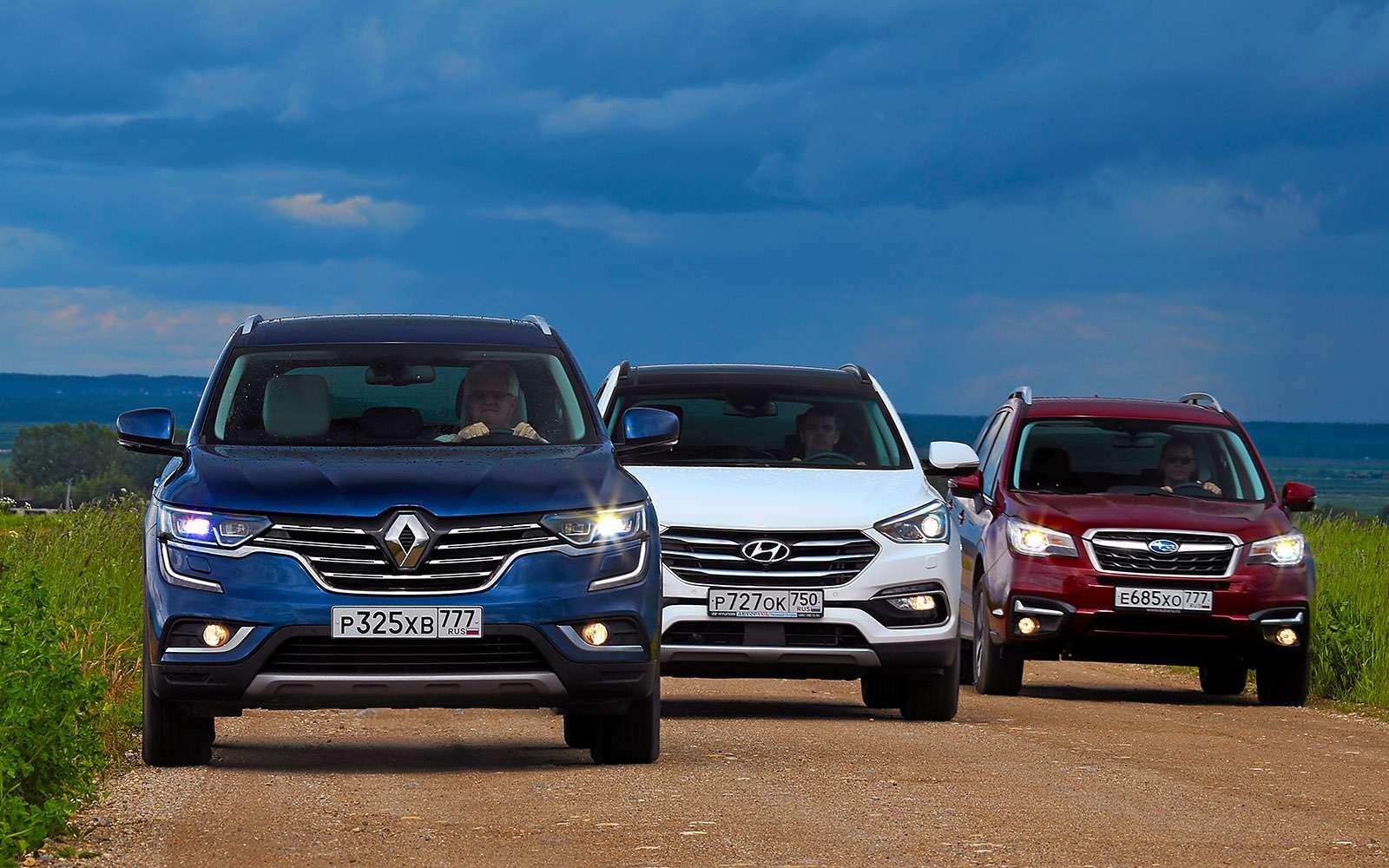 Новый Renault Koleos против конкурентов: буржуа, лесник иленивец— фото 780153