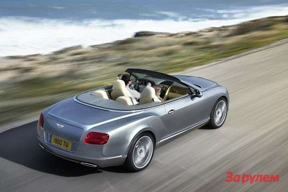 Bentley Continental GTC top-rear view