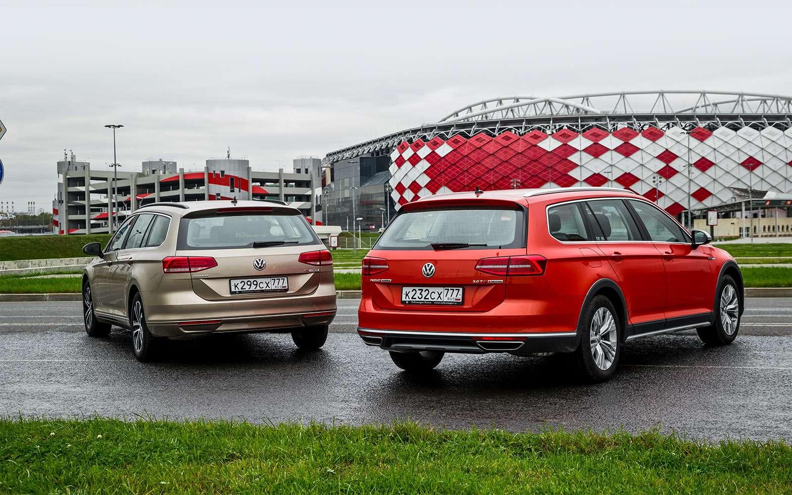 Volkswagen Passat Variant или Alltrack: зачто доплата?— фото 693519