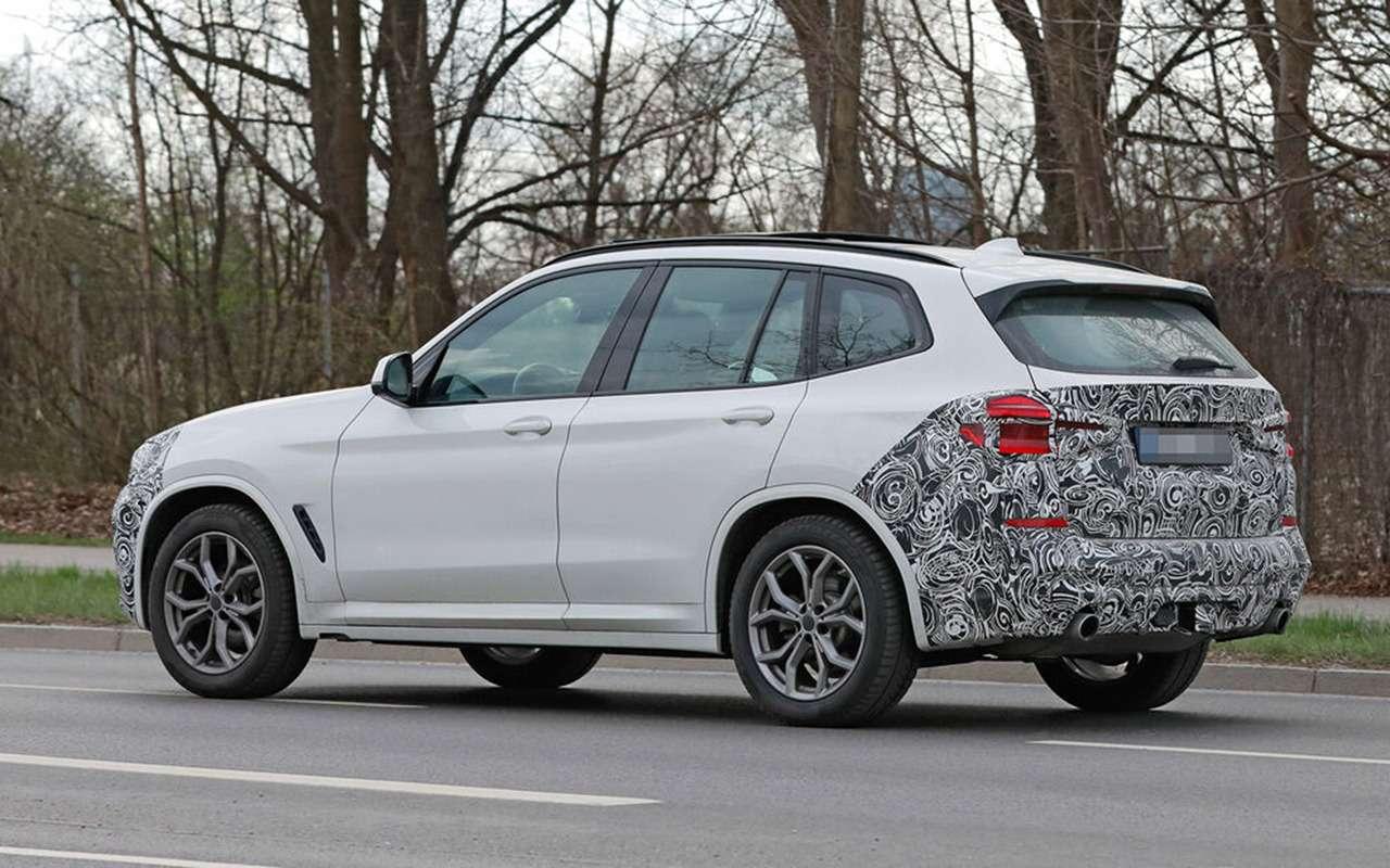 Обновленный BMW X3выехал натесты— фото 1246528