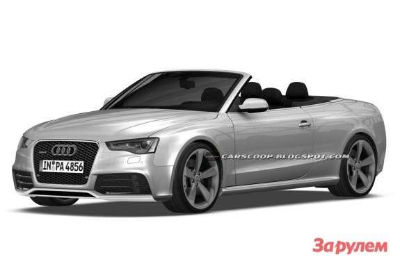Audi RS5 Cabriolet sketch side-front view