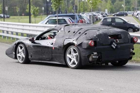 Ferrari Enzo's successor test prototype side-rear view