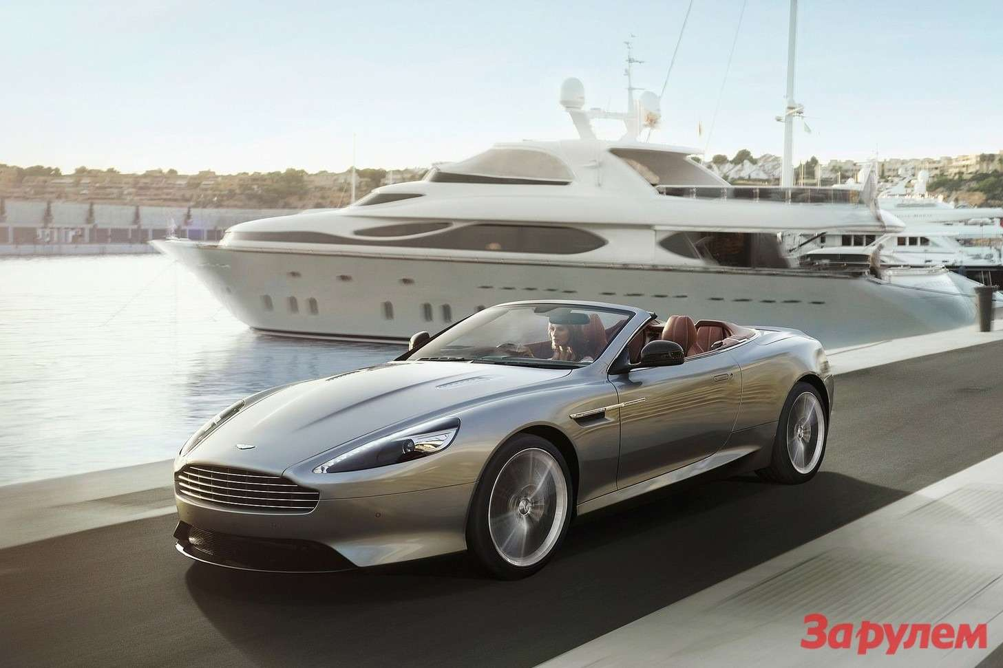 Restyled Aston Martin DB9 Volante side-front view