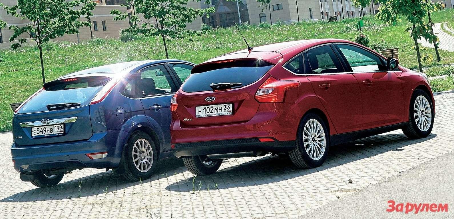 Багажники машин примерно одинаковы: у«Фокуса III», поофициальным данным,— 277л, абыло 282.