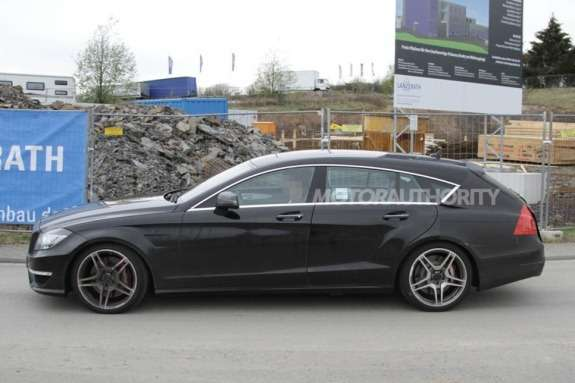 Mercedes-Benz CLS 63 AMG Shooting Break test prototype side view