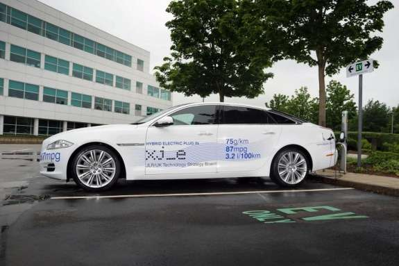 Jaguar XJ_e plug-in hybrid research vehicle side view