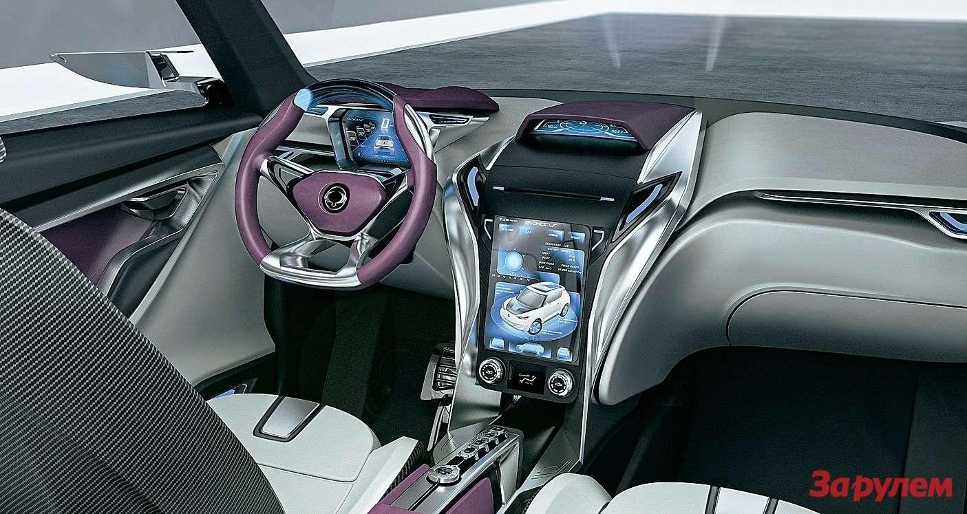 Приборный щиток водитель настраивает подсебя. Большой сенсорный дисплей нацентральной консоли не только отображает информацию, ноипозволяет менять настройки бортовых систем.
