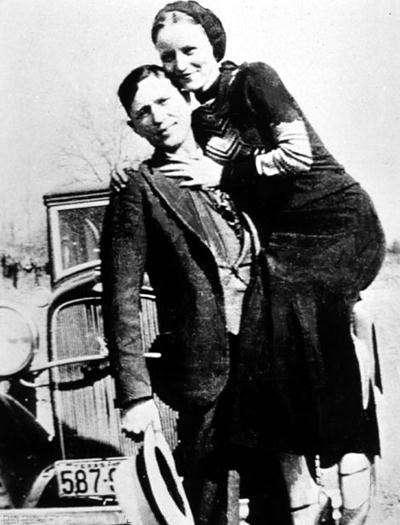 5 Clyde Barrow and Bonnie Parker nocopyright