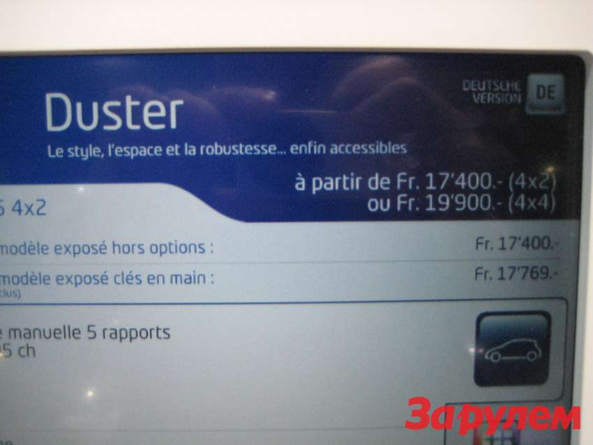 Цена Dacia Duster