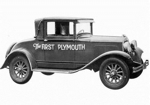 4 The first Chrylser Plymouth in 1928 no copyright
