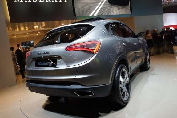 Maserati Kubang Concept side-rear view