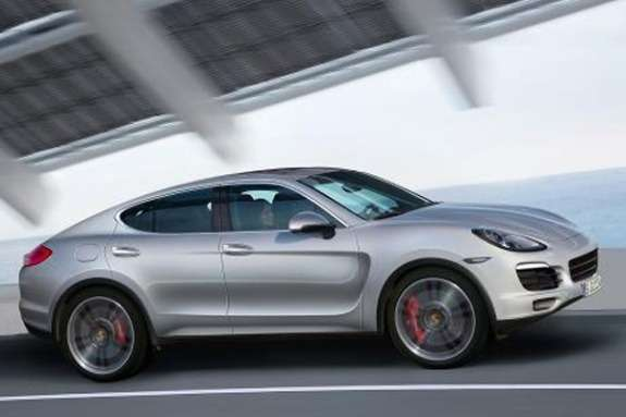 Porsche Macan rendering side-front view