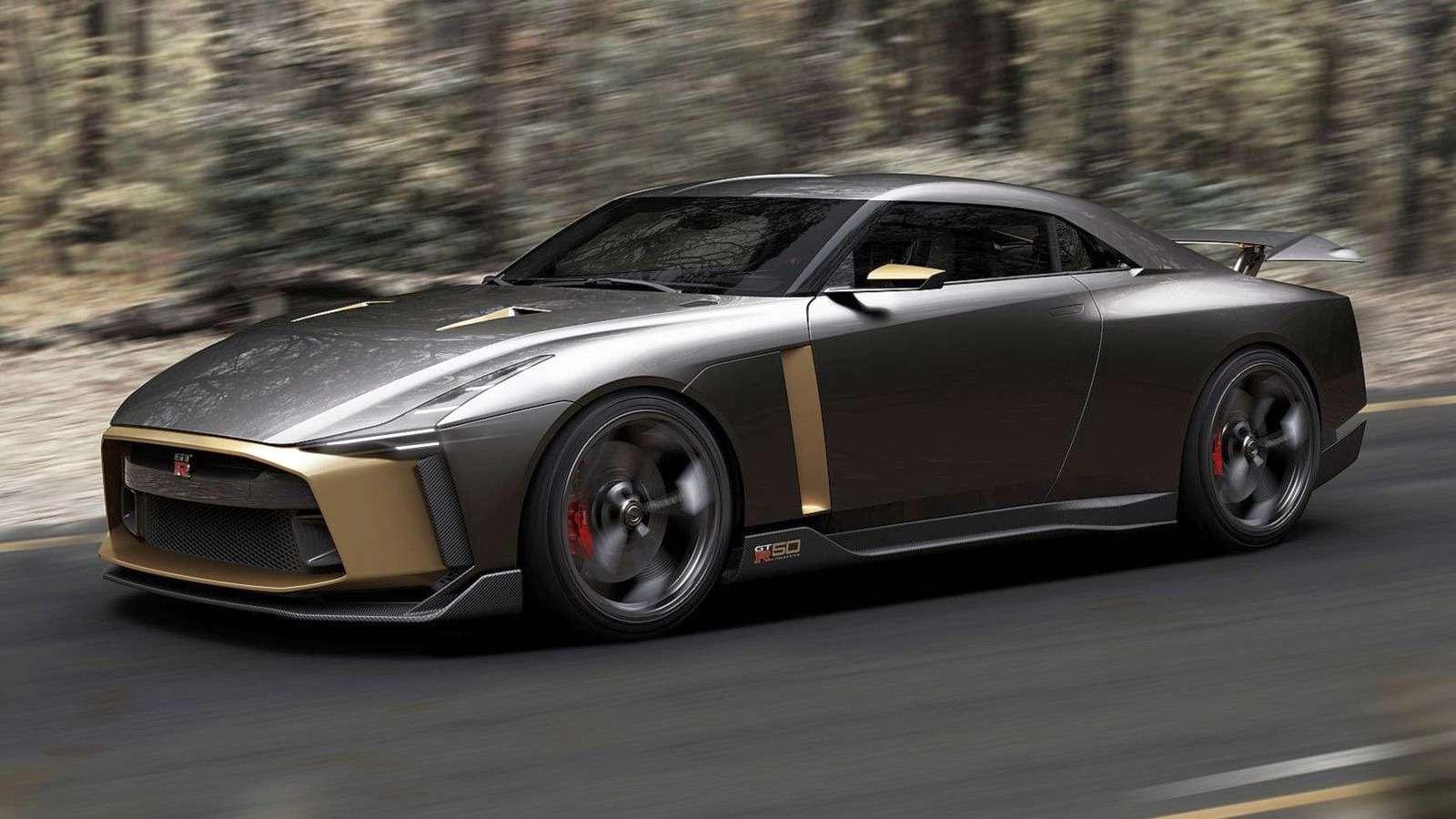 Золотой стандарт: Nissan иItaldesign представили юбилейный GT-R— фото 882727