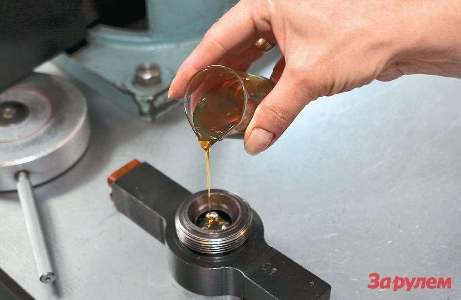 Одно изключевых испытаний товарного  масла нашариковой машине