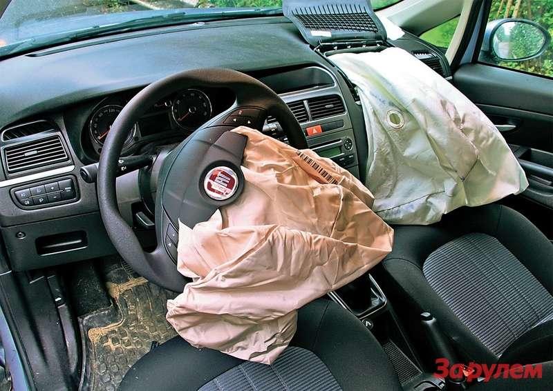 Сработавшие подушки безопасности— самая большая идорогостоящая неприятность.