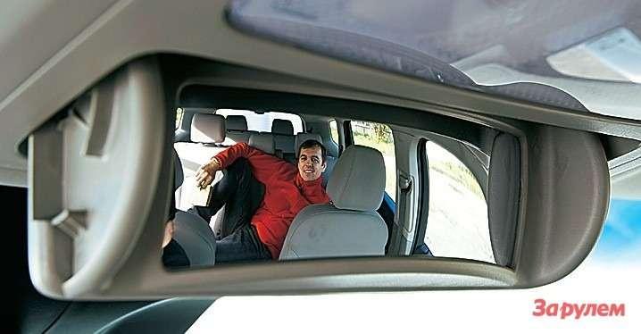 В зеркальце отлично видны пассажирские места. Дети должны быть поднадзором!