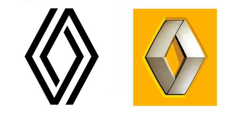 Новый логотип Renault: плоский вместо 3D