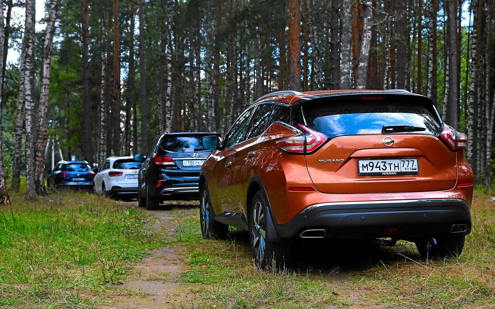 Новый Nissan Murano против конкурентов: длинные рубли— фото 691674