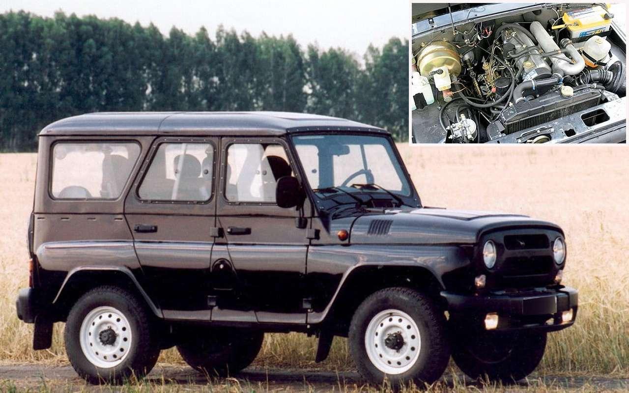 УАЗ, Нива, Волга...— 13наших моделей синостранными моторами— фото 943907