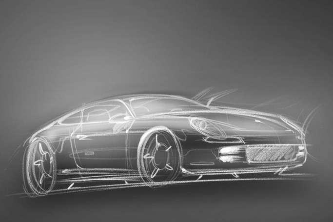Porsche 928 sketch