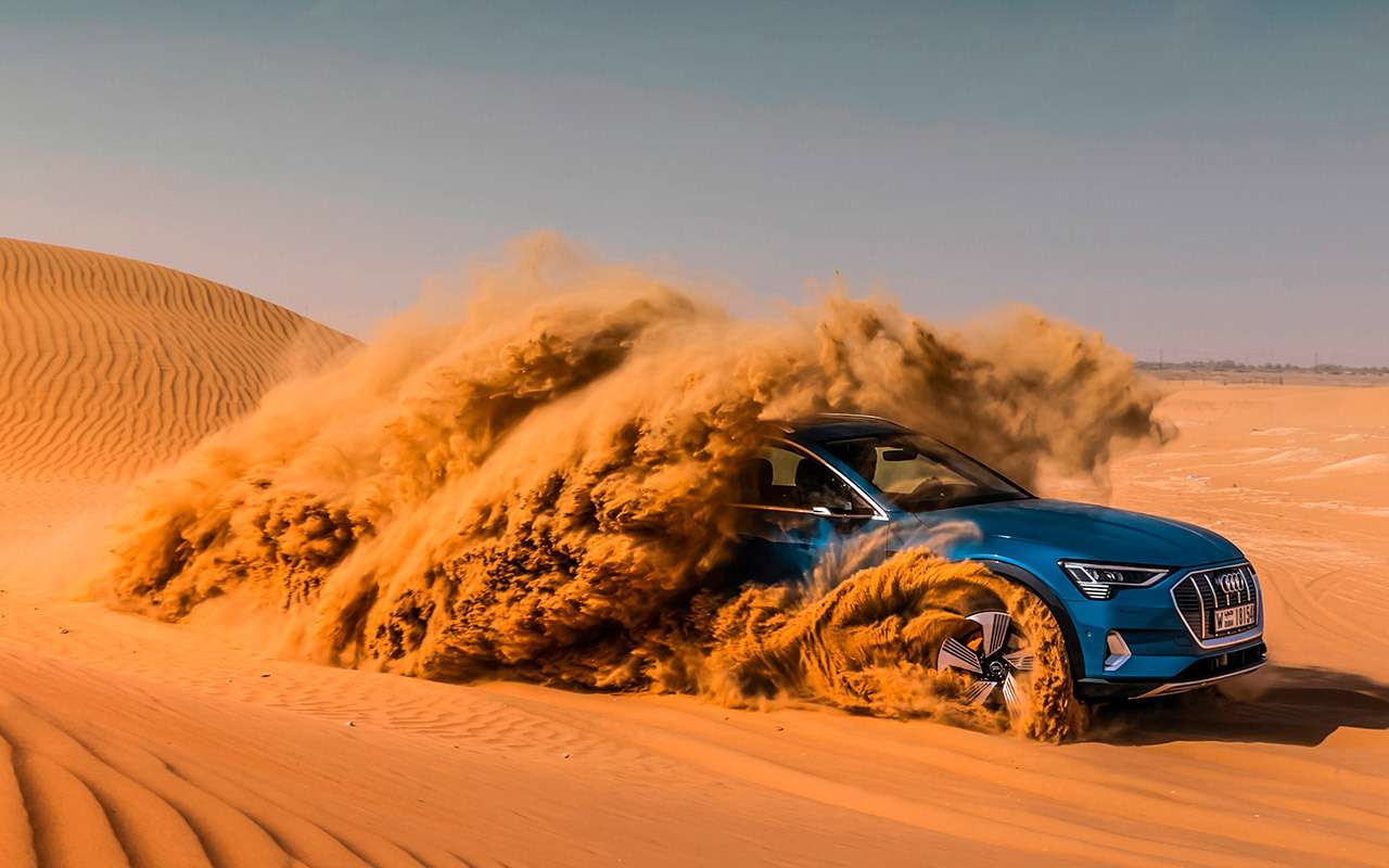 Электрокроссовер Audi e-tron: тест впесках Абу-Даби— фото 973063