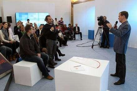 Медведев навстрече сблогерами