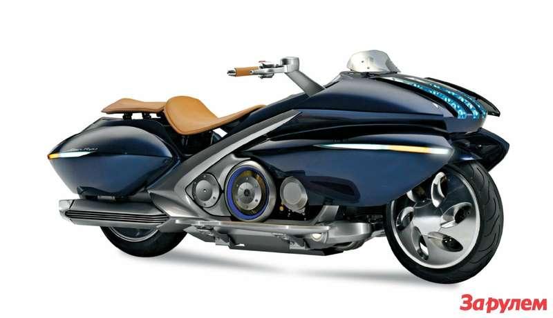 Концепт-байк Yamaha Gen-Ryu 2005 года намекает: японские инженеры обеими руками за«одетые» мотоциклы! Гибридная силовая установка, светодиодные фары... Неужели таков облик грядущего?