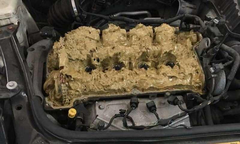 Тест наблондинку: Что будет, ежели залить «омывайку» в мотор?