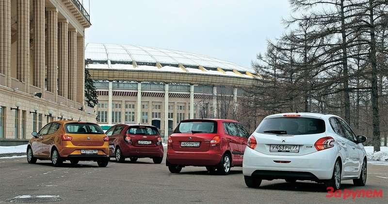 Skoda Fabia, Peugeot 208, Сhevrolet Aveo, Seat Ibiza