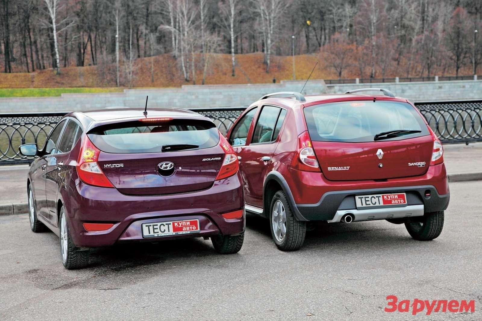 «Хёндай-Солярис», от443000 руб. vs«Рено-Сандеро-Степвэй», от453000 руб.