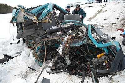 В ДТП смикроавтобусом вБашкирии погибли 7человек