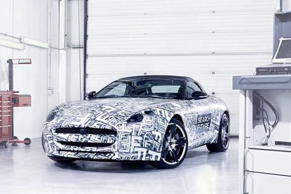 Jaguar F-type test prototype side-front view