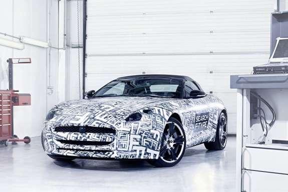 Jaguar F-type test prototype side-front view