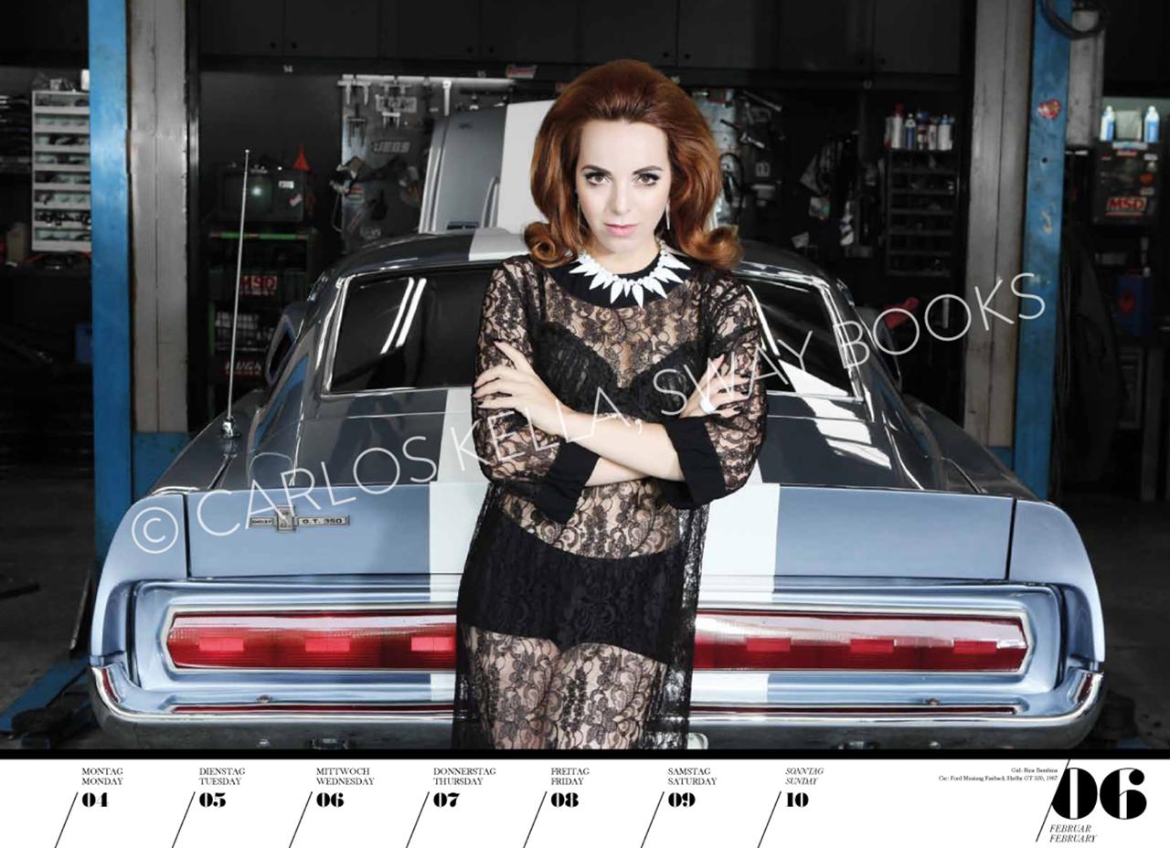 Очаровательные красотки иамериканские автомобили. Календарь 2019— фото 904607